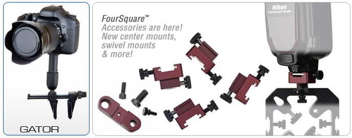 Delkin Gator mount and LightWare FourSquare adapters