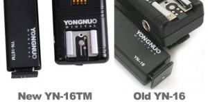 Yongnuo YN-16 and YN-16TM