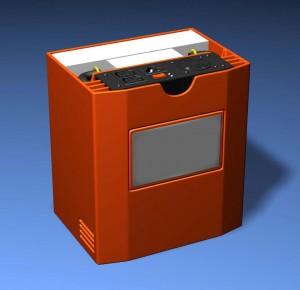 Hobo Lighting Studio Strobe Battery Pack CAD render