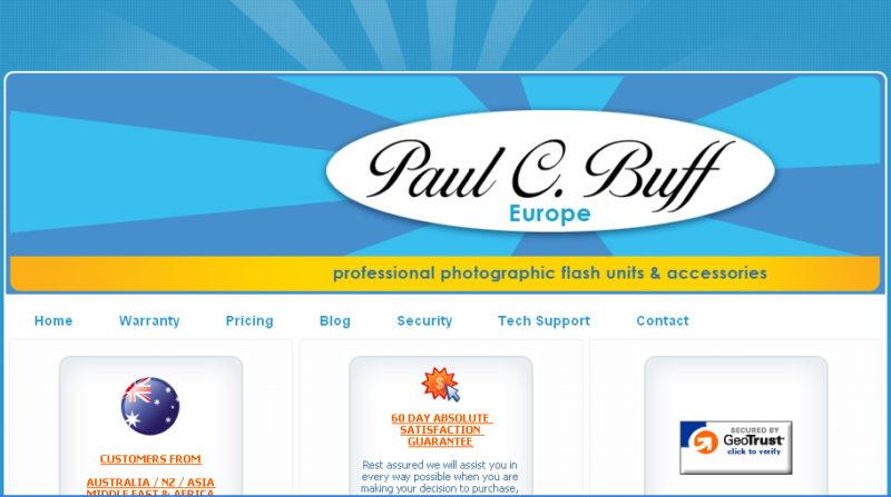 Paul C. Buff Europe web site screenshot