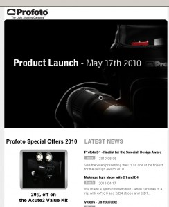 Profoto Product Launch - May 17th 2010