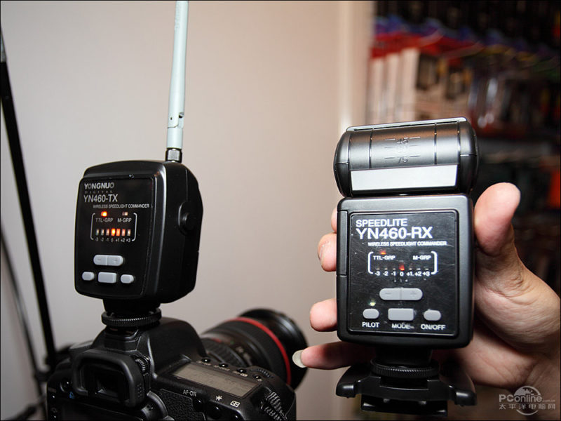 Yongnuo YN460-TX Commander and YN460-RX Wireless Speedlight