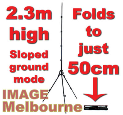 Image Melbourne Evo Stand: 2.3m high, folds to just 50cm
