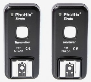 Phottix Strato transmitter and receiver for Nikon