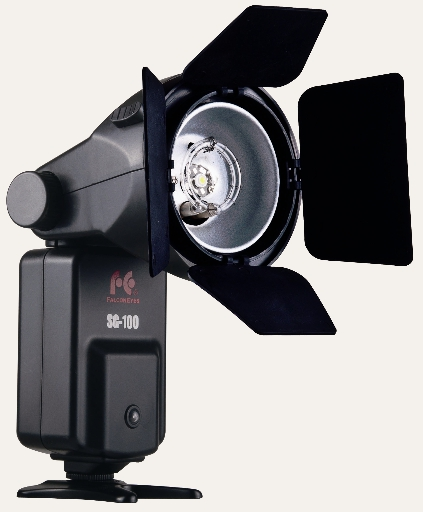 Falcon Eyes Strobe Gun SG-100 with barndoors