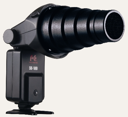 Falcon Eyes Strobe Gun SG-100 with snoot