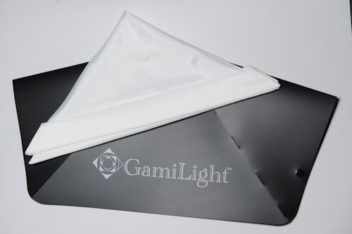 Gami Light Square 43 folded flat