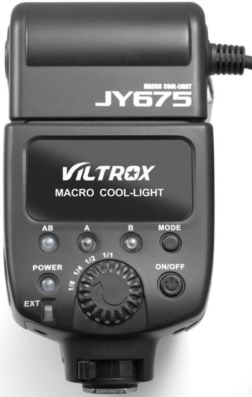 Viltrox JY-675 LED Ring Light controls