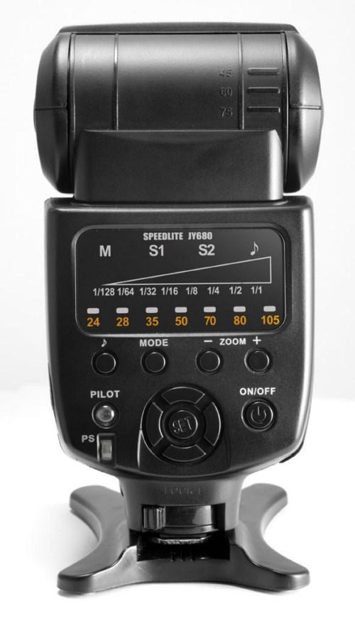 Viltrox JY-680 Speedlite controls