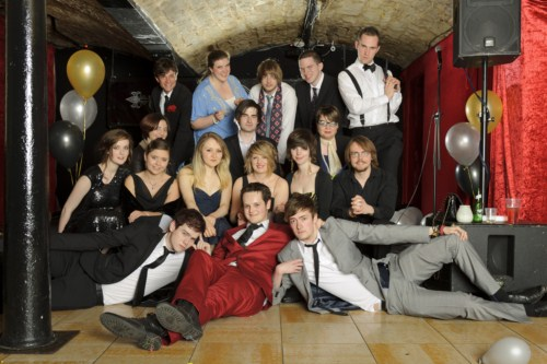 A group photograph taken using the Westcott 7' Parabolic Umbrella