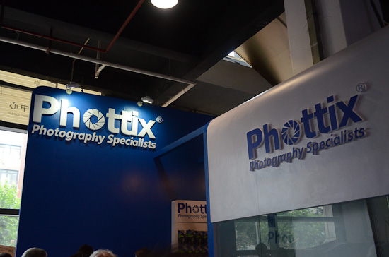 The Phottix stand at P&I Shanghai