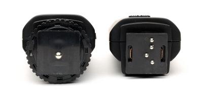 Aputure Trigmaster vs. Trigmaster 2.4G transmitter feet