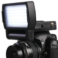 Dot Line DL-SL60 Hybrid Light Panel mounted on a camera