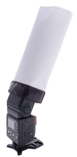 Aurora Portaflex Multiflector rolled into a snoot