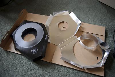 DIY Ring Flash being assembled