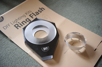DIY Ring Flash being assembled