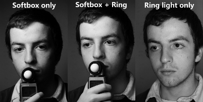 Comparison of the Ring Flash being used as main and fill light