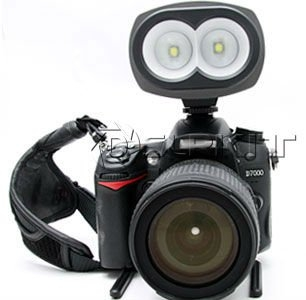 Walli LED Video Lamp mounted on a Nikon DSLR