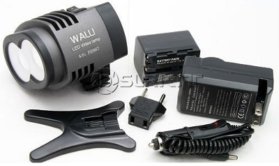 Walli LED Video Lamp and accessories
