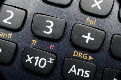 Macro of a pocket calculator
