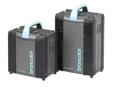 Broncolor Scoro A2S and A4S packs