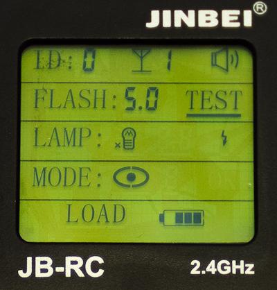 Jinbei Remote Control JB-RC display