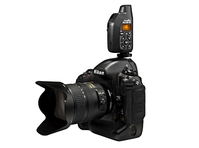 PocketWizard Plus III on camera