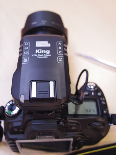 Pixel King i-TTL trigger on a Nikon D90