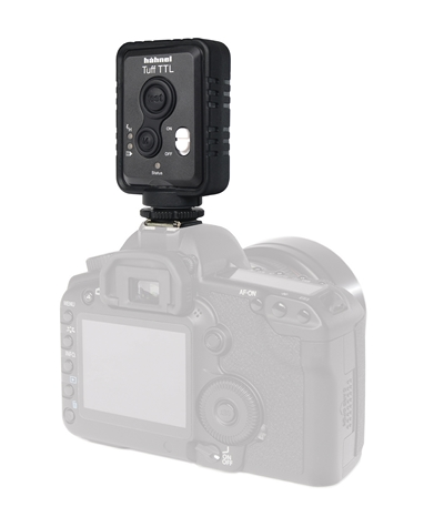 Hahnel Tuff TTL transmitter on a camera