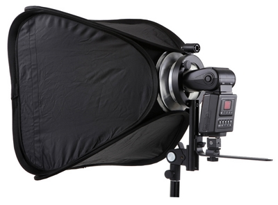Jinbei MF-100 in a softbox