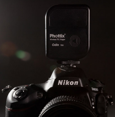 Phottix Odin TCU on a Nikon D800
