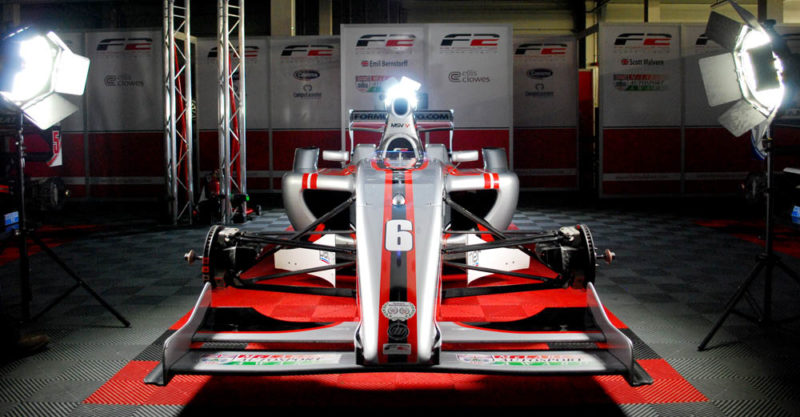 Rotolight Anova 2s being used to light a Formula 2 car