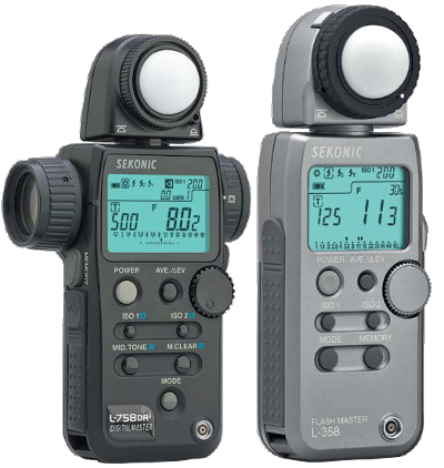 Sekonic light meters