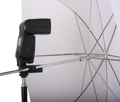 Using the umbrella holder built into the RF-801H receiver