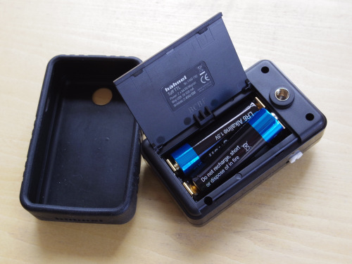 Hähnel Tuff receiver battery compartment