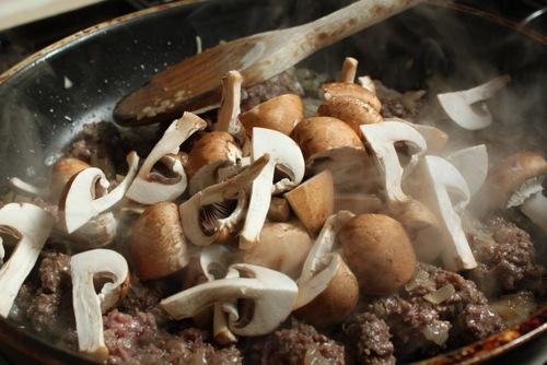 Mushrooms & mince