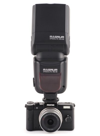 Aputure Magnum on a Pentax Q mirrorless camera