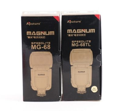 Aputure Magnum MG-68 and MG-68TL packaging