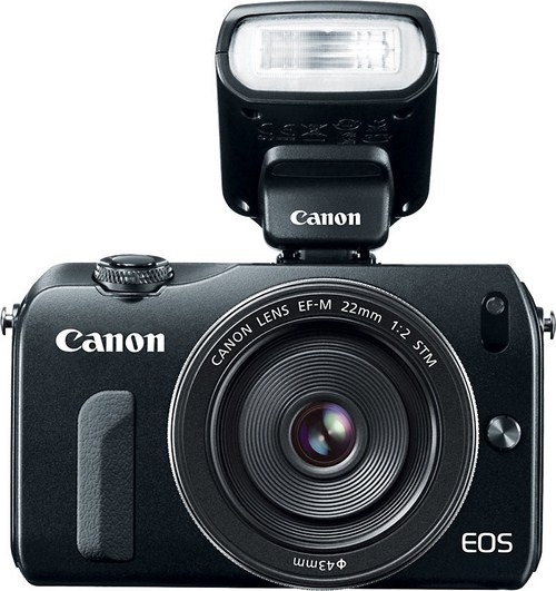 Canon EOS M with Speedlite 90EX