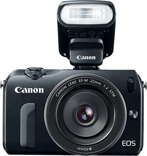 Canon EOS M with Speedlite 90EX