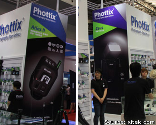 Phottix Atlas II and Zeus at P&I Shanghai 2012