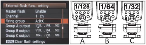 Wireless manual control in the Flash control menu with the YN-622C