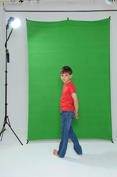 Green Screen X-Drop backdrop sample photo 2