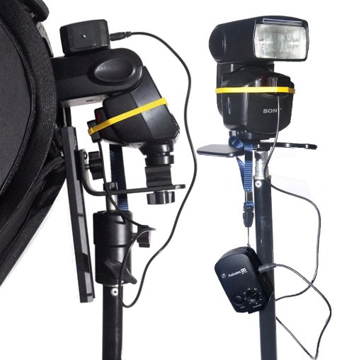 Aokatec AK-TTL receivers with Pentax and Sony flashes