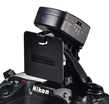 Aokatec AK-TTL transmitter being used with the pop-up flash of a Nikon D300