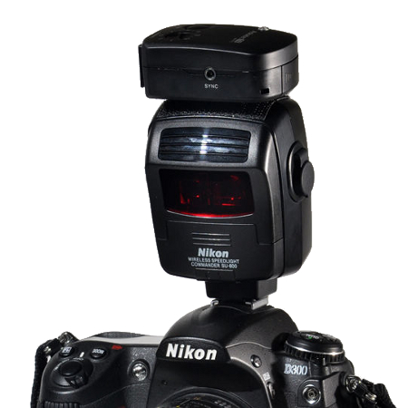 Aokatec AK-TTL transmitter on a Nikon SU-800 Speedlight Commander
