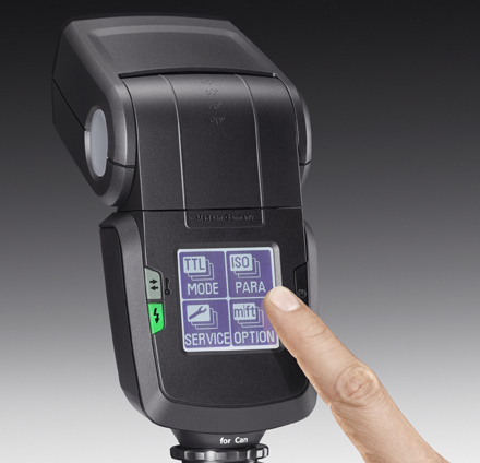 Metz mecablitz 52 AF-1 touchscreen flashgun