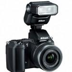 Nikon 1 V2 with Speedlight SB-N7 in black
