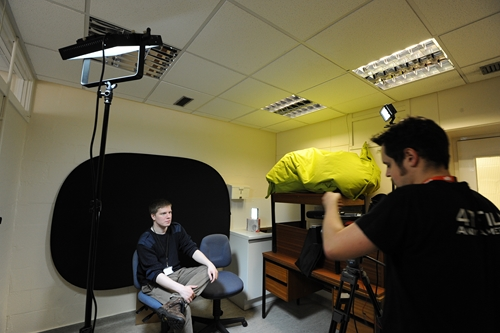 Setting up the Limelite Mosaic to light a video interview
