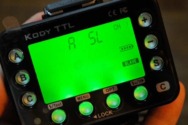Something Phottix Odin hasn't got: you can turn a Kody TTL transmitter into a receiver by setting it to 'Slave' mode